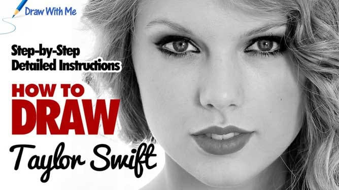 Drawing Lines With Swift : Draw taylor swift step by drawing tutorial