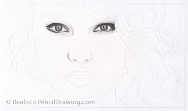 Draw Taylor Swift Step By Step Drawing Tutorial
