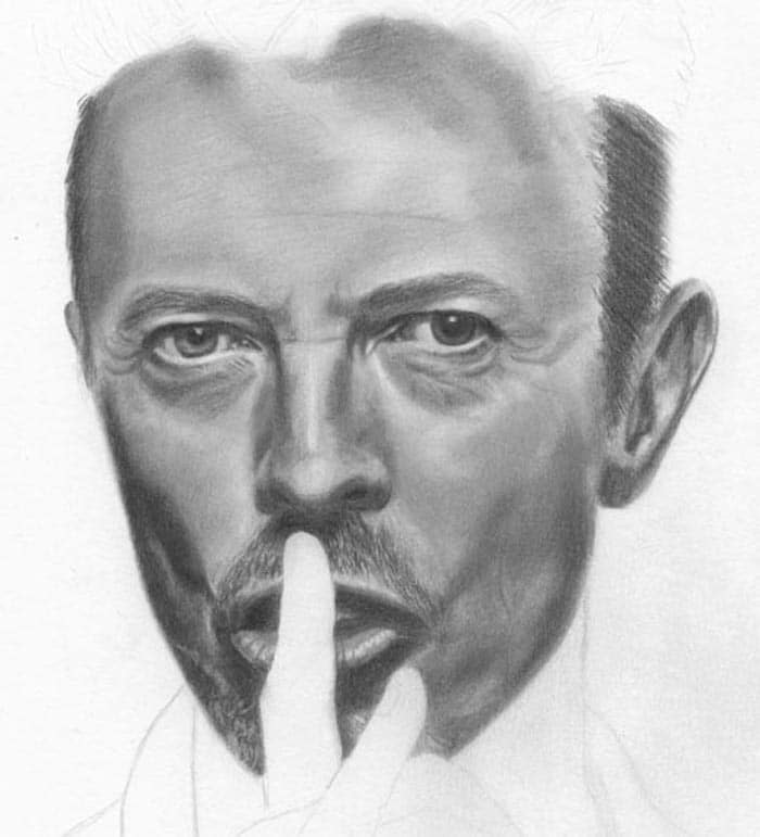 david-bowie-drawing-face