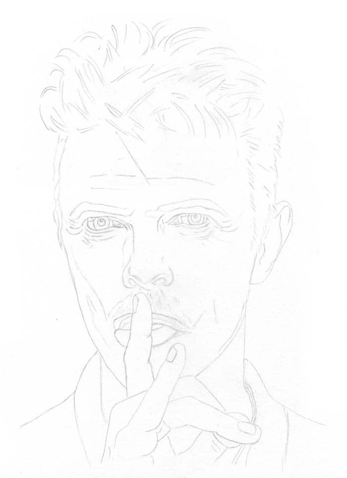 david-bowie-outline