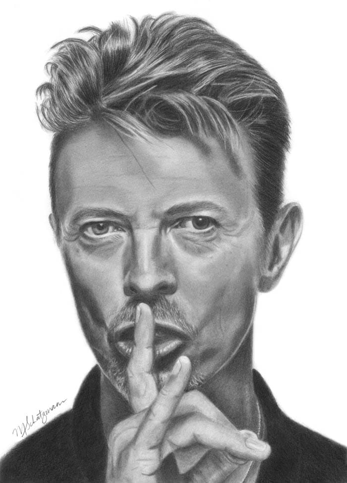 David Bowie - Realistic Pencil Drawing